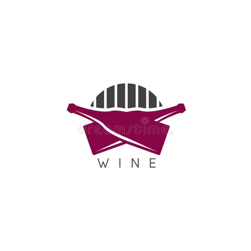 Het abstracte malplaatje van het pictogram vectorontwerp van wijn stock illustratie