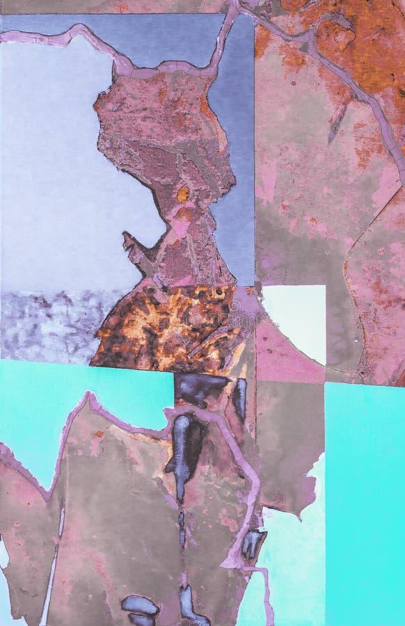 Het abstracte moderne kleurrijke acryl schilderen stock fotografie