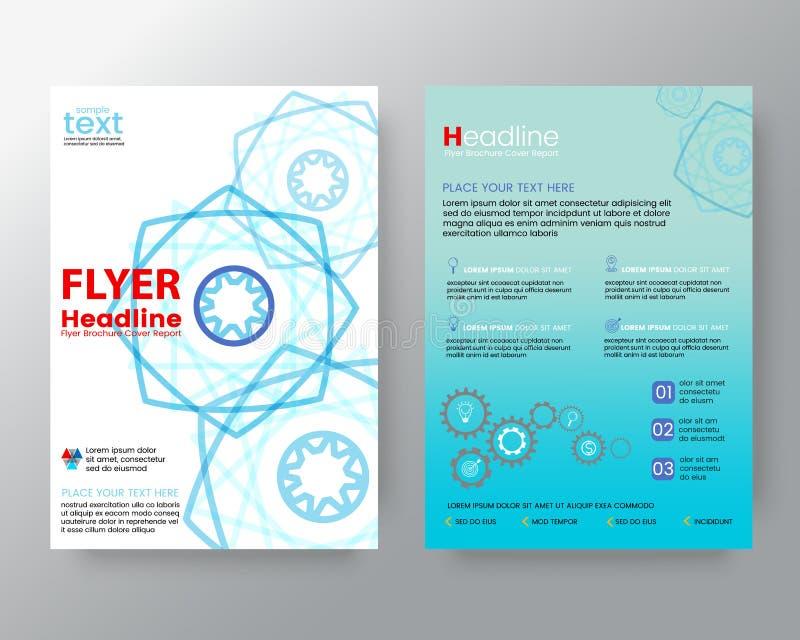Het abstracte moderne van de de Brochurevlieger van de lijnveelhoek Vectormalplaatje van de het ontwerplay-out royalty-vrije illustratie