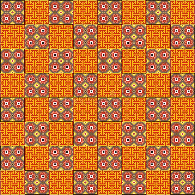 Het abstracte motief van de batikdecoratie stock illustratie