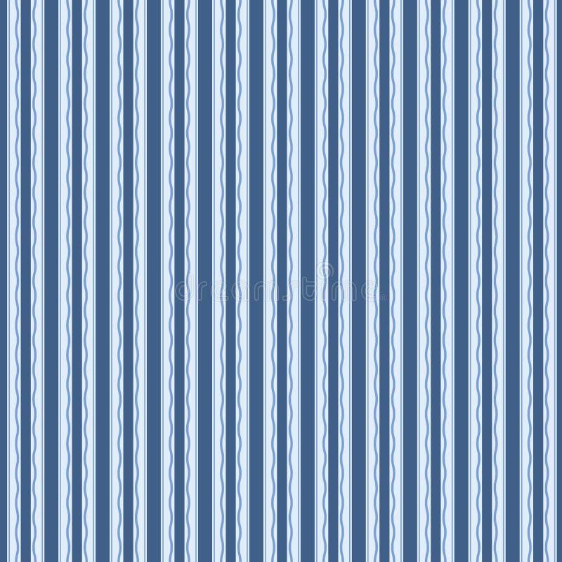 Het abstracte naadloze ornamentpatroon, vectorillustratie, Retro achtergrond maakte met verticale strepen Uitstekend hipsterbehan vector illustratie
