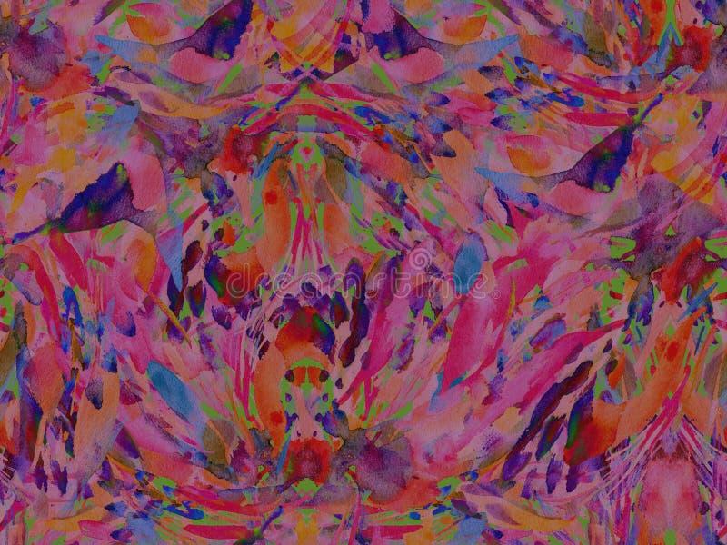 Het abstracte naadloze patroon van de Bohocaleidoscoop stock illustratie