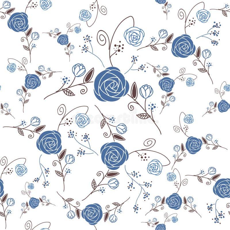 Het abstracte Naadloze patroon van de Elegantie met bloemenbac stock illustratie