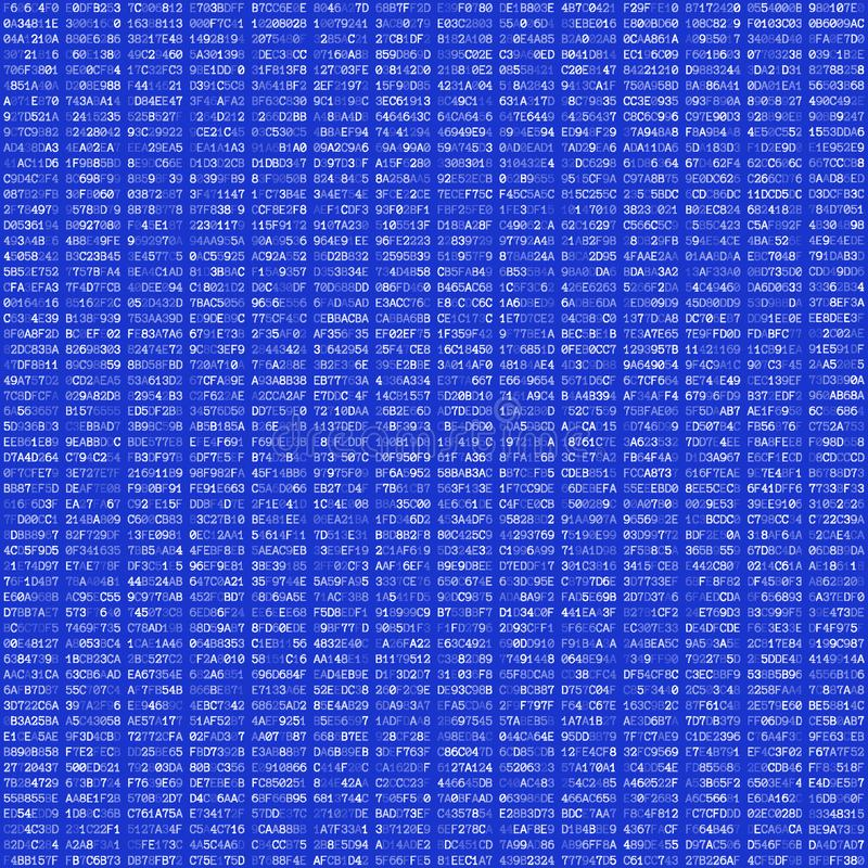 Het abstracte naadloze patroon van de hexuitdraaicode stock illustratie