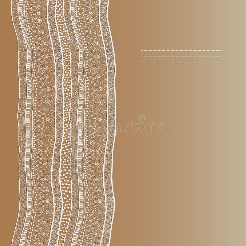 Het abstracte naadloze patroon van het kantlint. stock illustratie