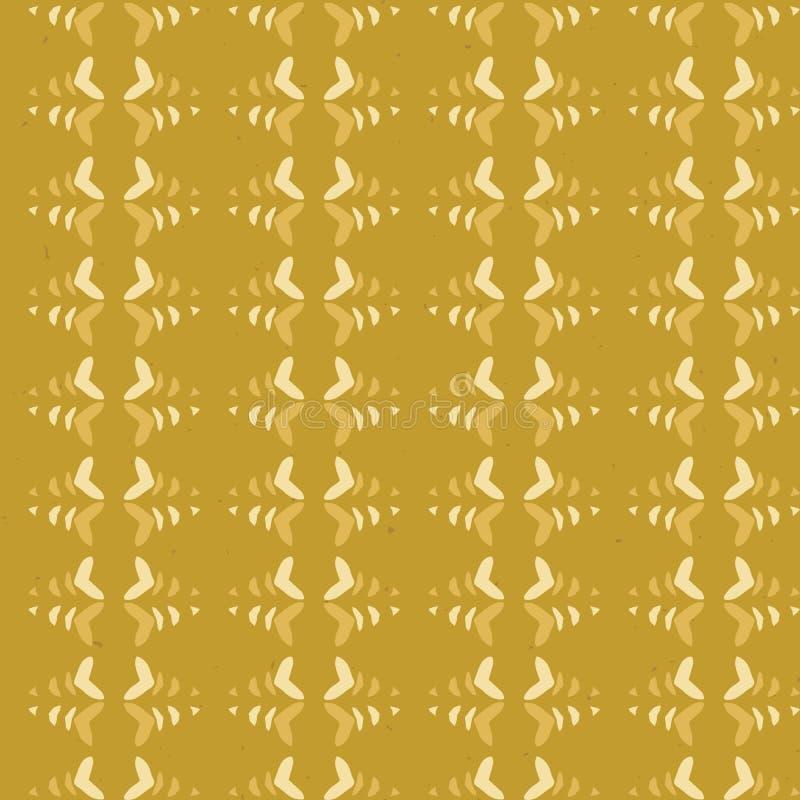 Het abstracte Naadloze Vectorpatroon van de Strepen Rustieke Textuur Aard Volksart background vector illustratie