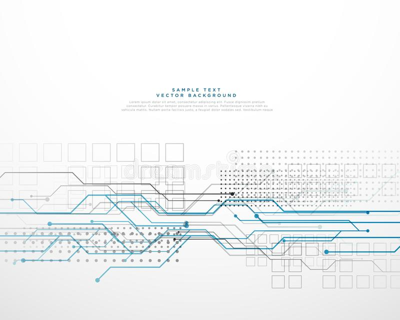 Het abstracte netwerk van de technologie circuid high-tech computer backgroun stock illustratie