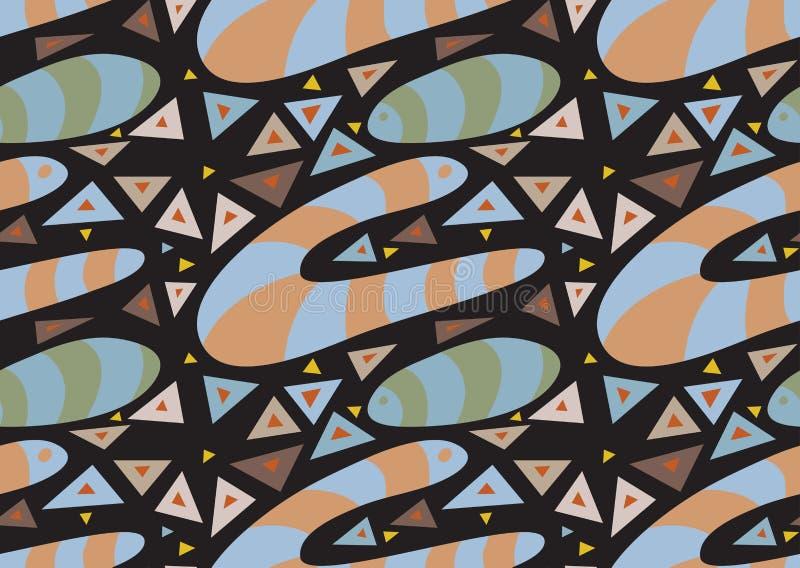 Het abstracte Ondergrondse Patroon van de Worm vector illustratie
