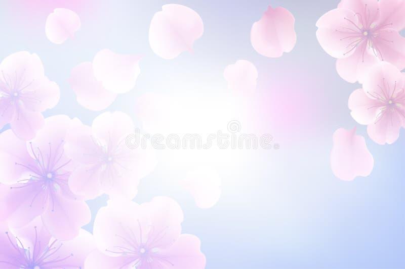 Het abstracte onduidelijke beeld van de bloempastelkleur voor concept als achtergrond, zachte en onduidelijk beeld stock illustratie