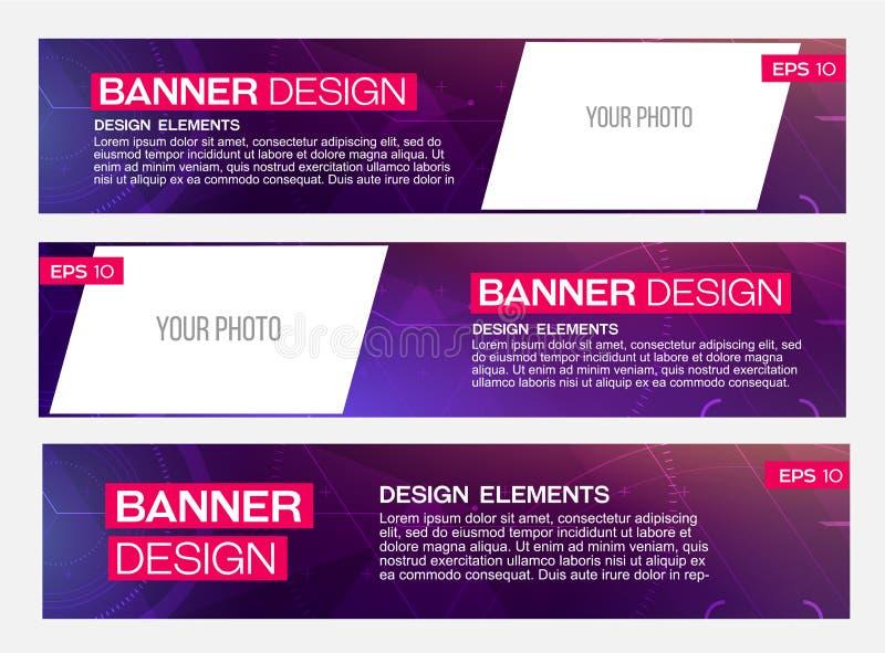 Het abstracte Ontwerp van de Banner stock fotografie