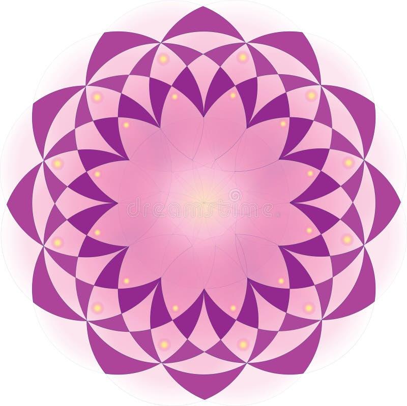 Het abstracte ontwerp van het de bloempatroon van de mandalalotusbloem stock foto's