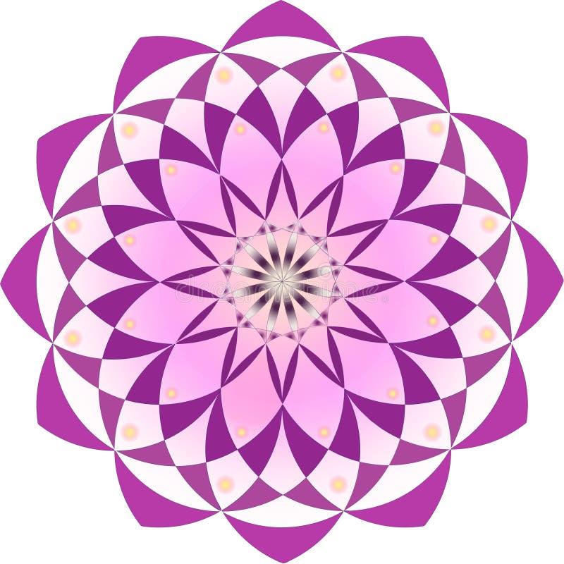Het abstracte ontwerp van het de bloempatroon van de mandalalotusbloem stock afbeeldingen