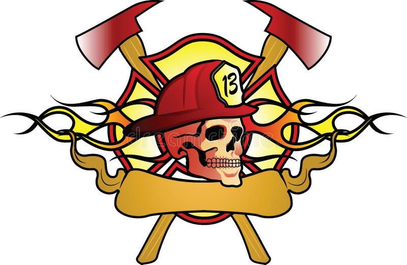Het abstracte ontwerp van de brandvechter. stock fotografie