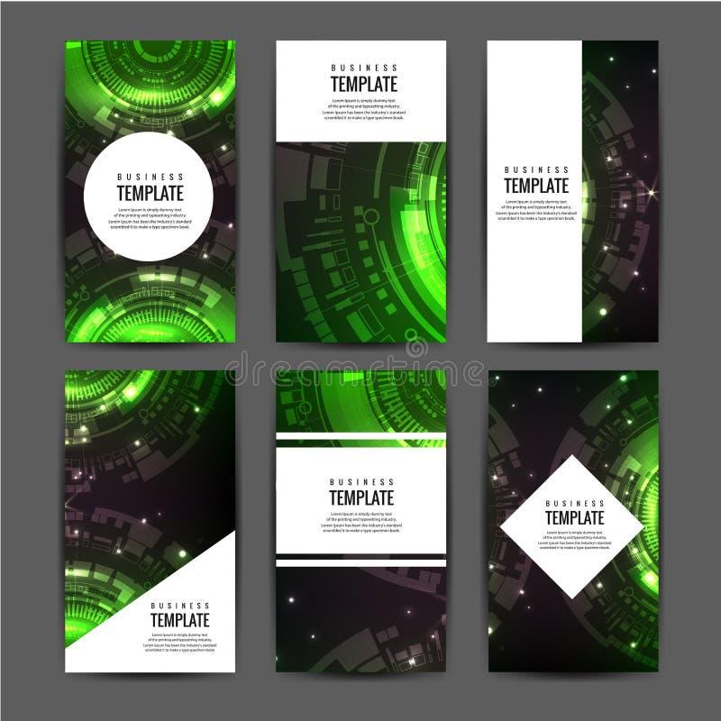 Het abstracte a4 ontwerp van de brochuredekking De oppervlakte van het tekstkader Het model van het titelblad vector illustratie