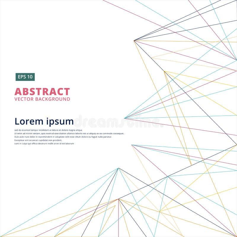 Het abstracte ontwerp van de lijnen moderne technologie voor Internet-communicati stock illustratie