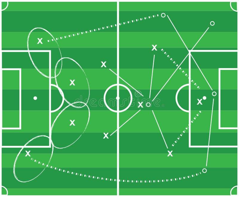 De tactiek van de voetbal royalty-vrije illustratie