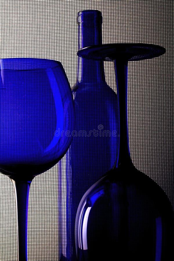 Het abstracte Ontwerp van het Glaswerk van de Wijn stock foto