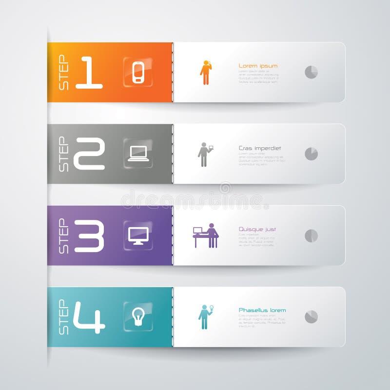 Het abstracte ontwerp van het infographicsmalplaatje vector illustratie