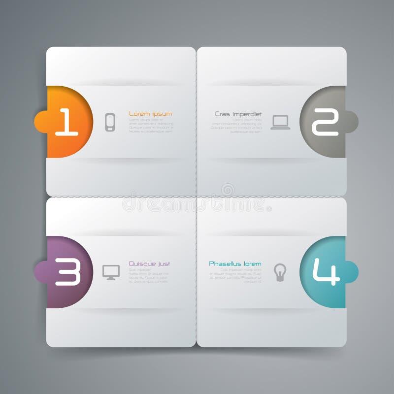Het abstracte ontwerp van het infographicsmalplaatje royalty-vrije illustratie