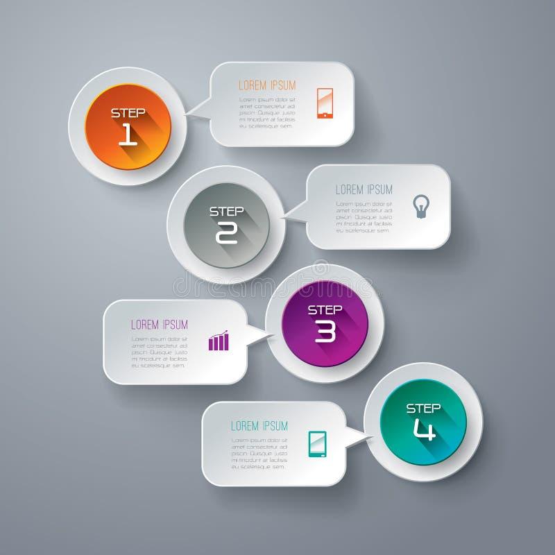 Het abstracte ontwerp van het infographicsmalplaatje. vector illustratie