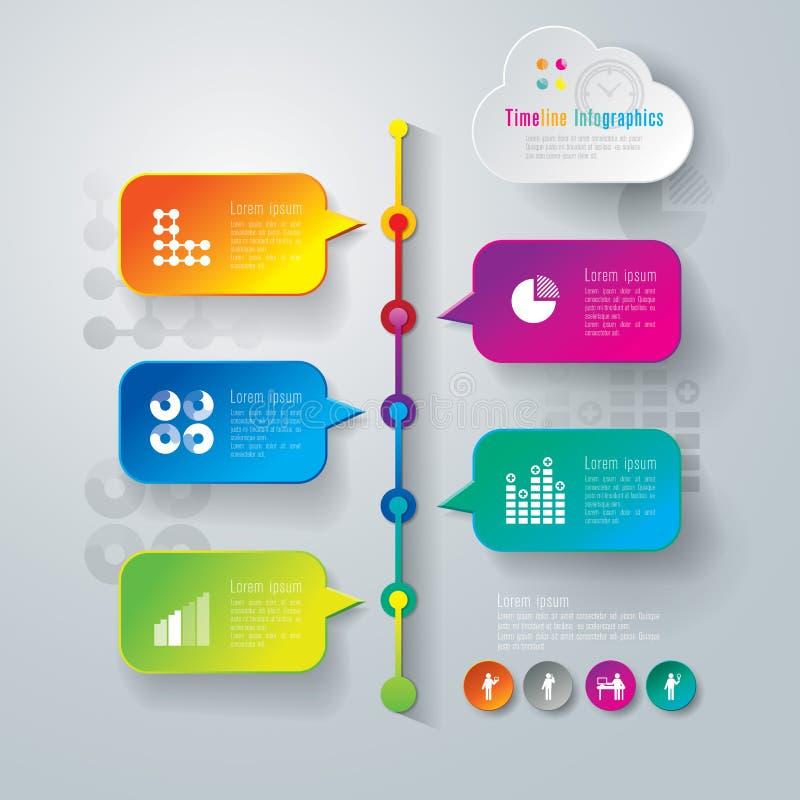 Het abstracte ontwerp van het infographicsmalplaatje. stock illustratie