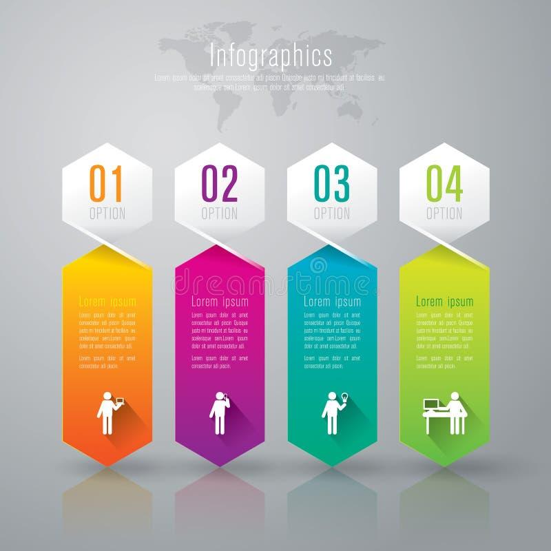 Het abstracte ontwerp van het infographicsmalplaatje. royalty-vrije illustratie