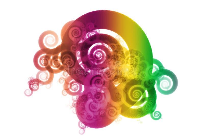 Het Abstracte Ontwerp van het Mengsel van de Kleur van het Spectrum van de gradiënt royalty-vrije illustratie