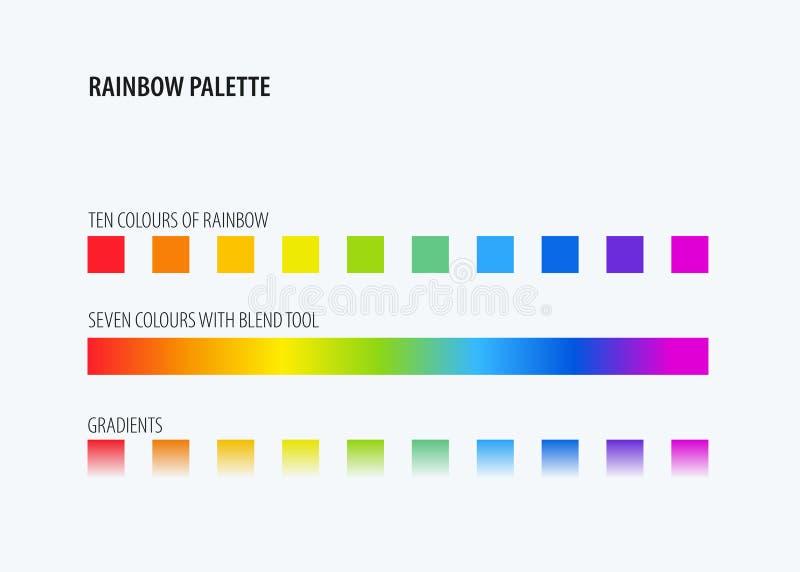 Het abstracte ontwerp van regenboog kleurt palet royalty-vrije illustratie