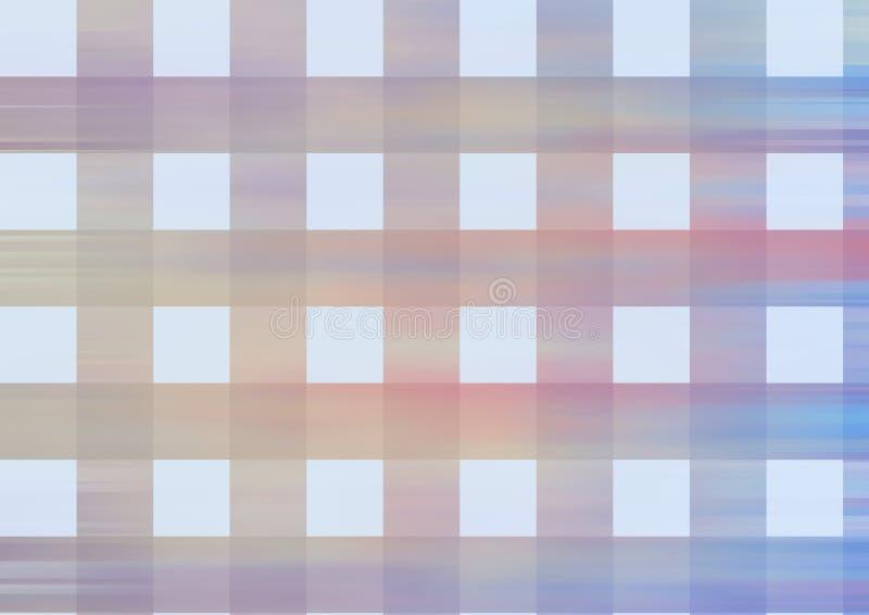 Het abstracte Oranje blauwe behang van het kleurenpatroon stock illustratie