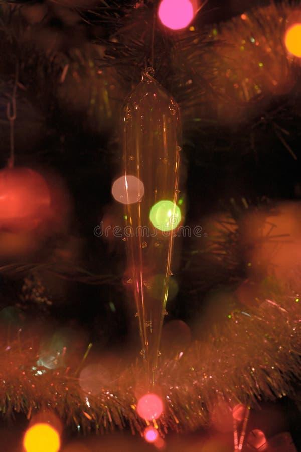 Het abstracte Ornament van de Ijskegel van Kerstmis stock foto
