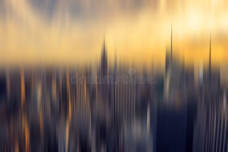 Het abstracte panorama achtergrond van New York royalty-vrije illustratie