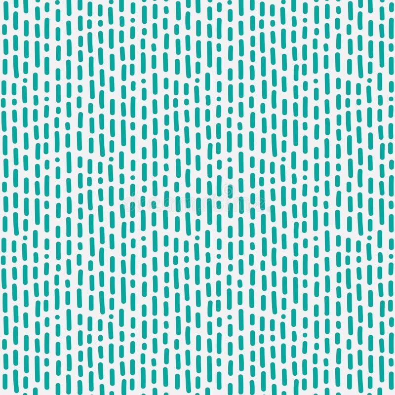 Het abstracte Patroon met Lijnen overhandigt Getrokken stock illustratie