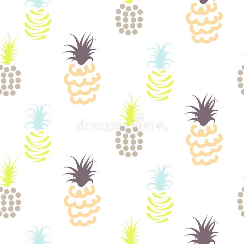 Het abstracte patroon van ananaspastelkleuren vector illustratie