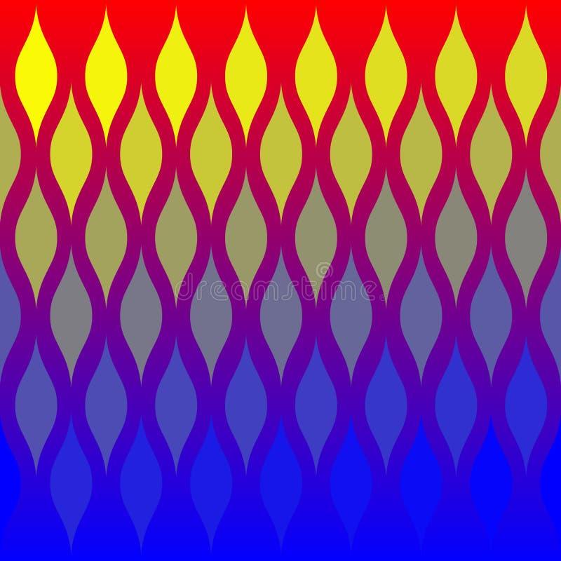 Het abstracte Patroon van de Tegel van Vlammen royalty-vrije illustratie