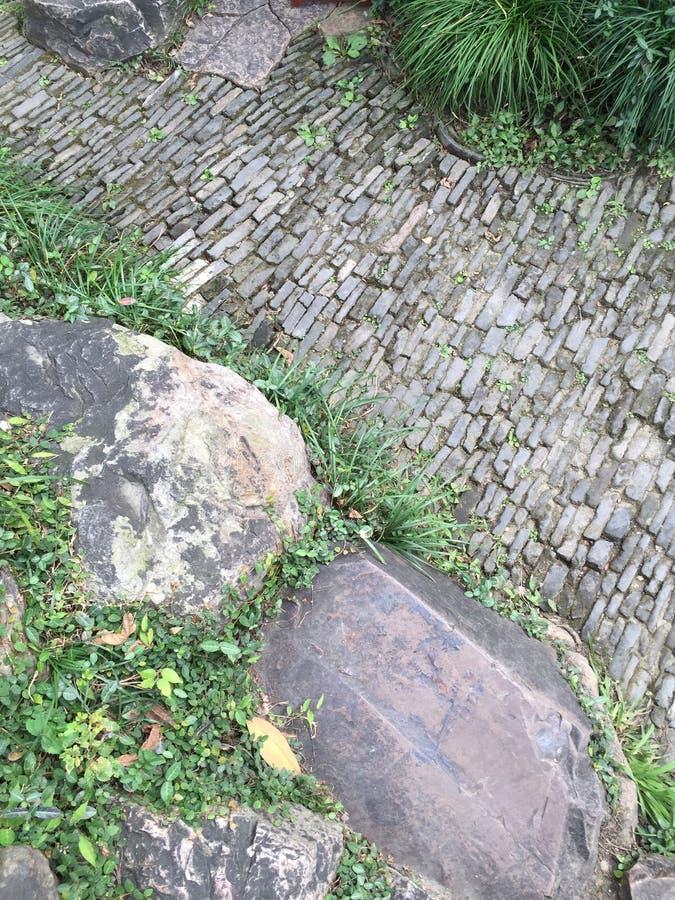 Het abstracte patroon van de tuinbetonmolen stock foto