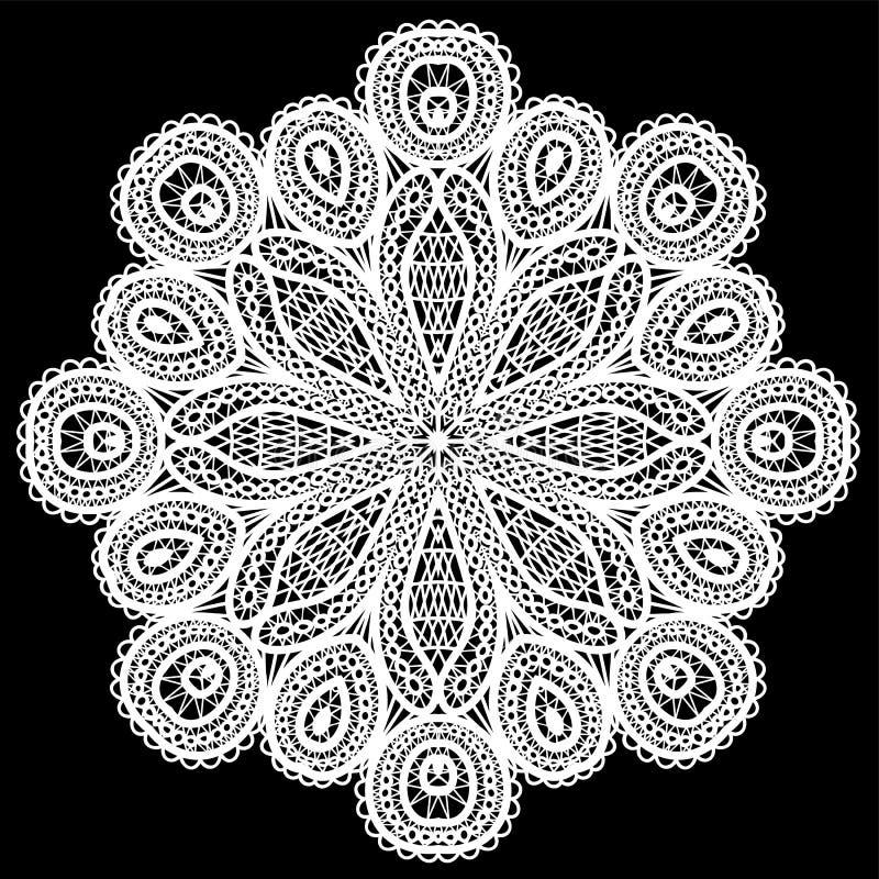 Het abstracte patroon van het cirkelkant. vector illustratie