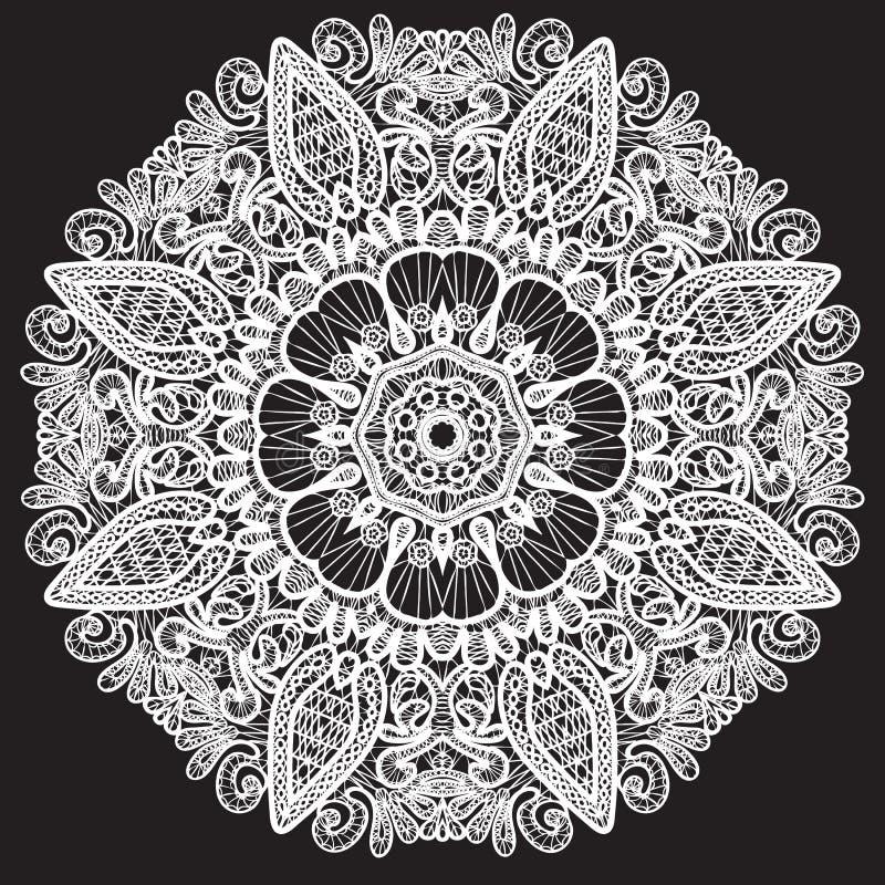 Het abstracte patroon van het cirkelkant. royalty-vrije illustratie