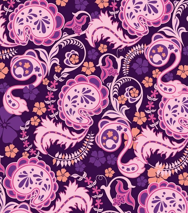 Het abstracte Patroon van Paisley vector illustratie