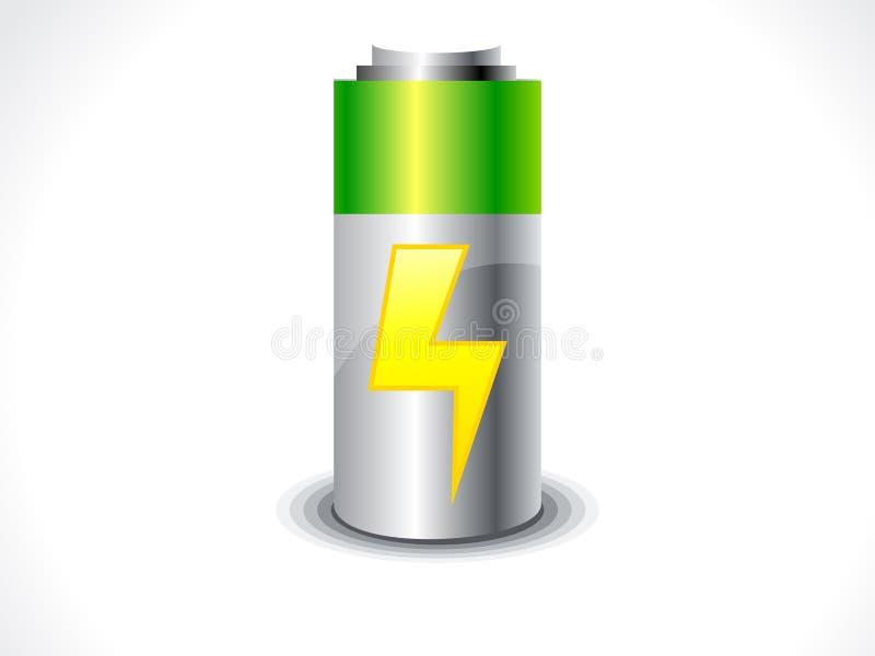 Het abstracte pictogram van de Batterij vector illustratie
