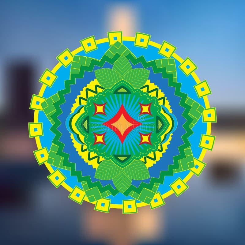 Het abstracte pictogram van India royalty-vrije illustratie