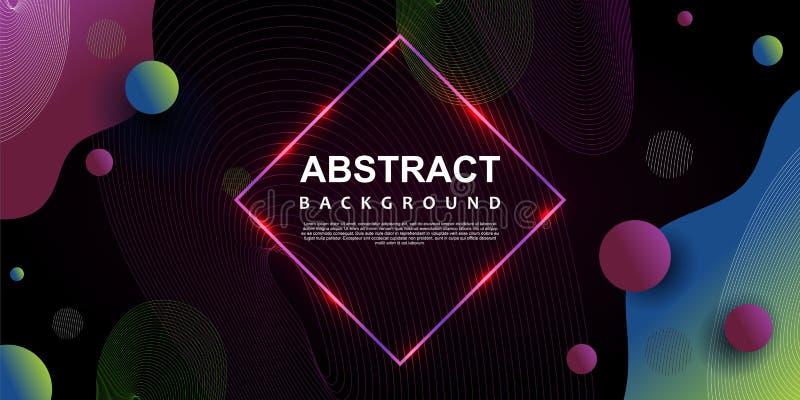 het abstracte populaire thema van het in neon geometrische malplaatje als achtergrond vector illustratie