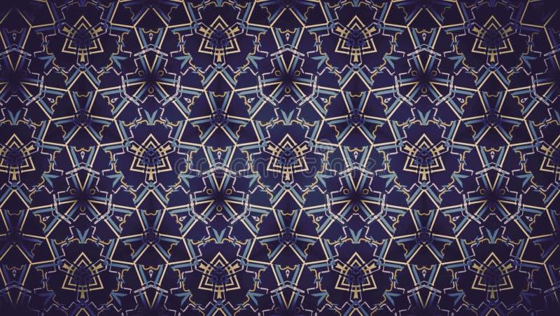 Het abstracte purpere blauwe gele behang van het kleurenpatroon stock afbeeldingen