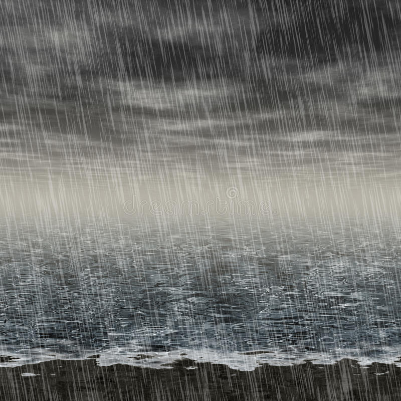 Het abstracte regenachtige landschap produceerde hurenachtergrond vector illustratie