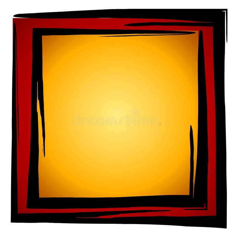 Het abstracte Rode Goud van de Doos van Vierkanten royalty-vrije illustratie