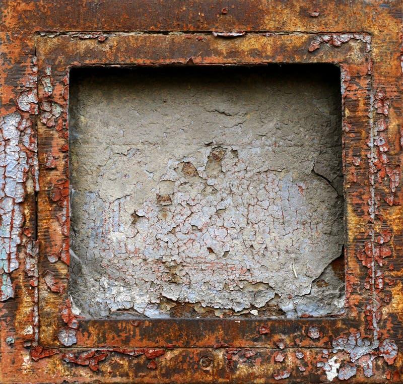 Het abstracte roestige frame van het grungemetaal