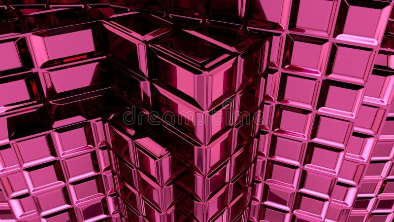 Het abstracte roze 3d teruggeven als achtergrond royalty-vrije illustratie