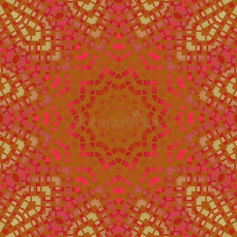 Het abstracte roze violette rode goud van het sterornament vector illustratie