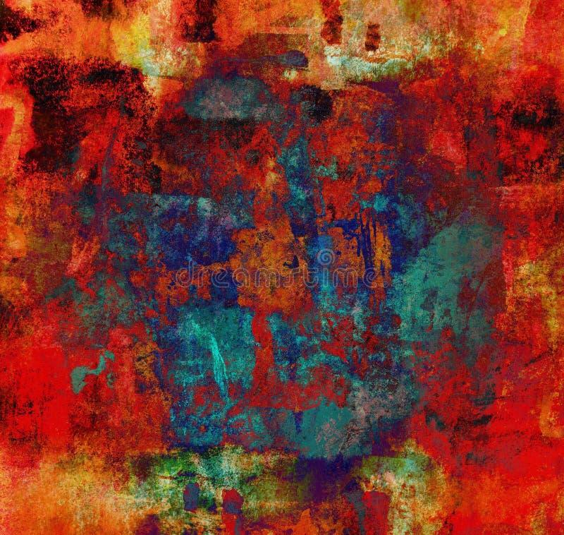 Het abstracte Schilderen Als achtergrond royalty-vrije illustratie