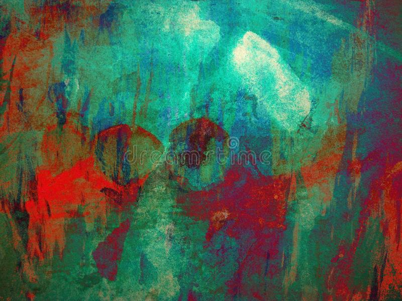 Het abstracte Schilderen Als achtergrond stock illustratie