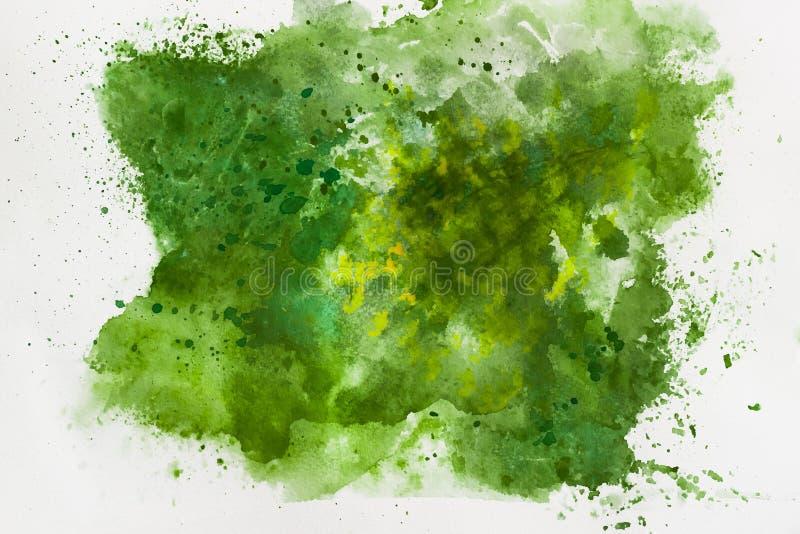 Het abstracte Schilderen Als achtergrond Textuur van waterverfdocument royalty-vrije stock afbeeldingen